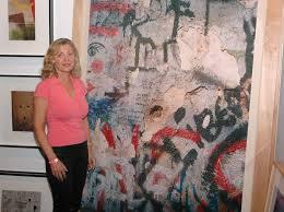 linda sherman at photo la art with dennis hopper art work