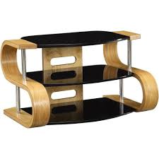 light oak wooden tv stand 3 tier black glass shelves within glass and oak tv stands