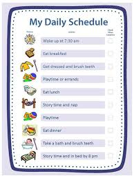 Free Blank Templates For Daily Schedule Chore Chart Reward