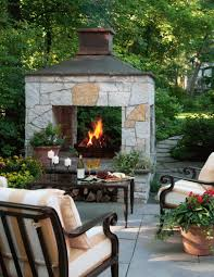Backyard Landscape Design Plans Delectable 48 Outdoor Fireplace Ideas Midwest Living