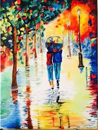 rainy day 11 x14 oil painting impressionism technique 200