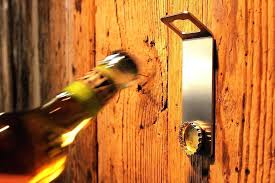 wall mounted bottle opener with magnetic cap catcher home designs for wall mounted wine opener prepare