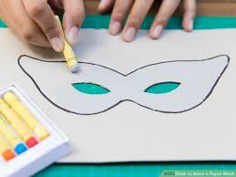 Card Masks To Decorate How to Make a Paper Mask 60 Steps with Pictures wikiHow 47
