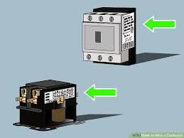 how to wire a contactor 8 steps (with pictures) wikihow how to wire a contactor for a 3 phase motor at Contactors Wiring Diagram