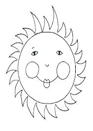 The sun shines and gives warmth. Coloring Pages Printable Picture Sun Coloring Page
