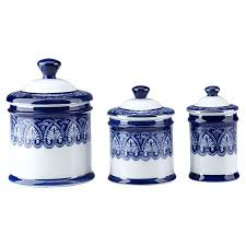 best cobalt blue kitchen canisters beautiful 3 piece belmont canister set so cute in a kitchen