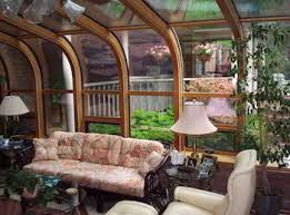 Inside sunrooms Shabby Chic Sunroomhistoryinside History Of The Sunroom Dc Enclosures Blog