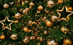 Image result for gold ornaments christmas tree