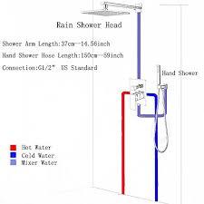 brushed nickel shower faucet set. votamuta-brushed-nickel-2-ways-12-rain-shower- brushed nickel shower faucet set