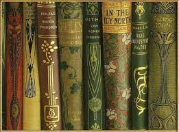 art nouveau book spines