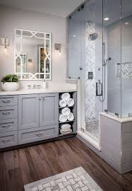 modern master bathrooms. Clean And Bright Gray White Bathroom Modern Master Bathrooms