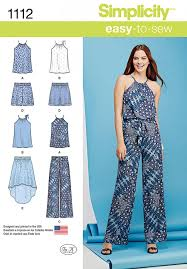 Simplicity Jumpsuit Pattern Awesome Simplicity 48 Easy Sewing Pattern Shorts Pants Sewcratic