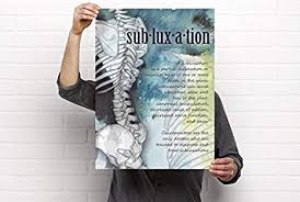 Chiropractic Wall Charts Amazon Com Clinic Artwork Definition Of Subluxation
