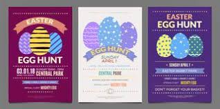 easter egg hunt template easter egg hunt celebration banner template set stock vector