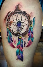 Hawaiian Dream Catcher Colorful Dream Catcher Tattoo That Will be Uniquely Your Own 20