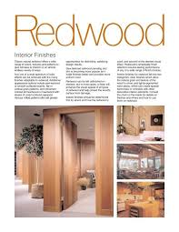 Interior Finishes Guide California Redwood Association