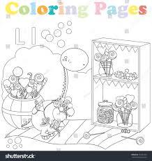 Coloring Page Kids Alphabet Setletter L Stock Vector 732371443