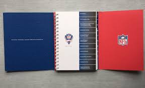 nfl employee handbook on behance