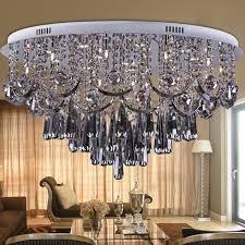 top luxury smoke grey crystal chandelier for living room dia80 h45cm regarding most popular grey