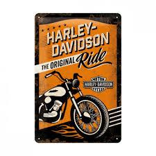 item harley davidson metal sign