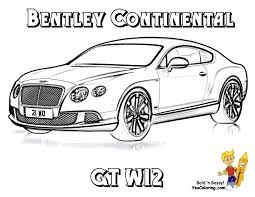 Fired Up Car Coloring Bentley Gt