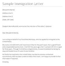 Immigration Recommendation Letter Sample Friend Mymuso Co