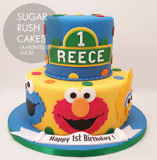 Sesame Street Elmo Cake Sugar Rush Cakes Montreal