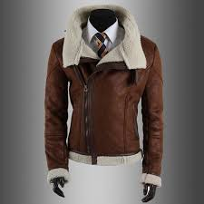 black brown faux leather motorcycle jacket mens fashion men s coat winter leather jacket faux fur slim fit leather jackets for men leather motorcycle jacket