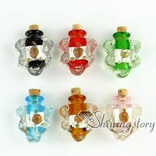 glass vial pendant for necklace necklace bottle pendants small decorative glass bottles assorted