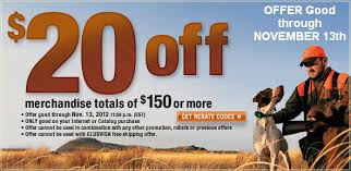 cabelas 20 off orders of 150 or more