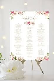 Wedding Seating Chart Alphabetical Large Poster