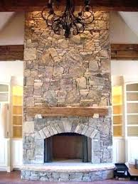 rock fireplace cultured