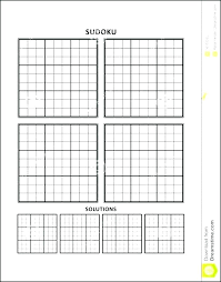 Grid Template Word Middle School Logic Puzzles Math Printable Subtraction Table