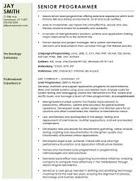 sample computer programmer resume free professional computer programmer resume template sample ms word