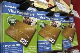 prepaid visa cards in a