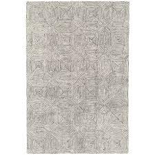 camden black white geometric wool rug by asiatic 2