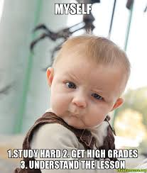 MySelf 1.Study Hard 2. Get High Grades 3. Understand the lesson ... via Relatably.com