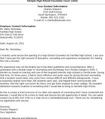 High School Resume Cover Letter Example Of High School Resume