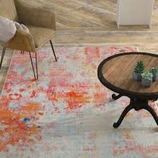 williston forge montross gray orange area rug