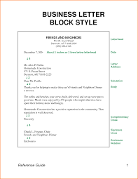 Business Letter Block Style Complete Examples Letters Expense