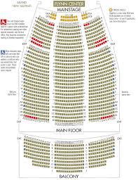 Flynntix Flynn Center Mainstage Seat Map