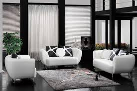 image of modern black accent pillows for white sofa