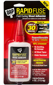 rapidfuse fast curing wood adhesive cures in 30 minutes