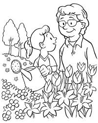 Coloring sheets, books and pages can be integral in preparing kids for the more structured work on paper ahead of them. An Illustration Of A Grandmother And Her Granddaughter Watering Flowers With A Watering Can In 2020 Coloring Pages Family Coloring Pages Bible Coloring Pages