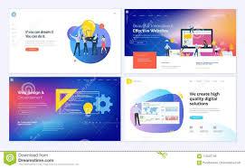Creative Banner Design For Website Set Of Creative Website Template Designs Stock Vector
