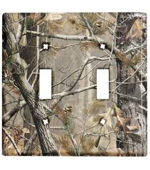realtree ap camo double toggle light switch plate