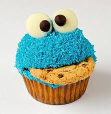 really cool cupcake designs. Plain Designs Cookie Monster Cupcake In Really Cool Designs D