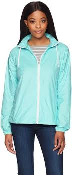 Charles River Apparel Womens Beachcomber Windbreaker Jacket Aqua X Small