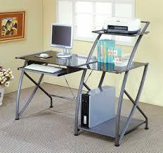 metal and glass desk glass desk office depot