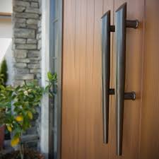 Front door handles Unusual Add Door Hardware Choose From Powder Coat Stain Or Paint Finish And Select Your Style Of Glass To Ensure Your Front Door Is Complete Lowes Door Finish Hardware Parkwood Products Ltd